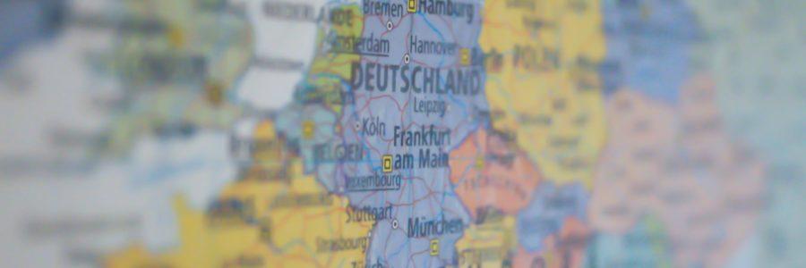 Dag van Europa - landkaart